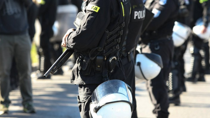 May 27 2017 Gdansk Poland Anti riot Special Police Unit OPP officers during equality march a