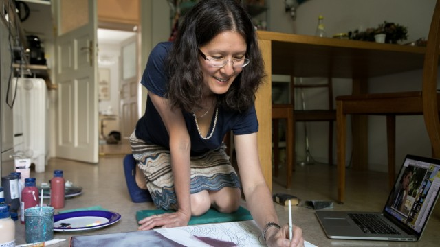Malerin Brigitte Yoshiko Pruchnow, Aldringenstr. 12