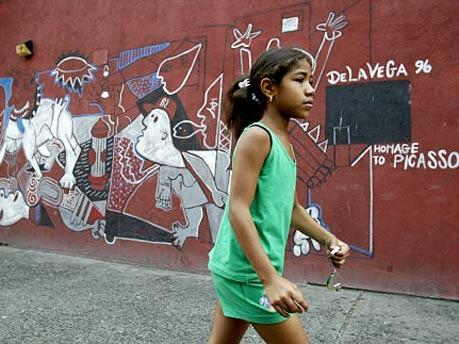 Mädchen in Spanish Harlem, New York