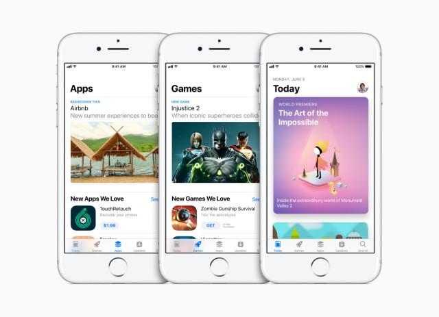 Apple überarbeitet App Store mit neuen Kategorien in iOS 11