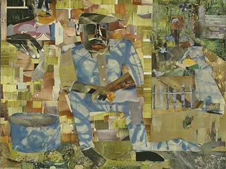 "Romare Beardens Kunstwerk ""Tomorrow I May Be Far Away, 1966/1967"""