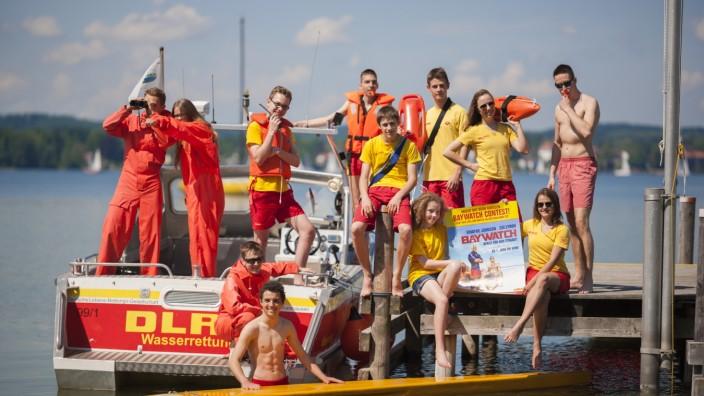 Starnberger See: Fast einen ganzen Tag hat die DLRG-Jugend zum Shooting in St. Heinrich verbracht.