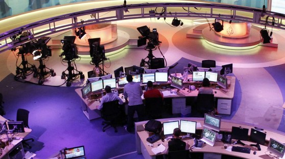 File photo of a general view showing the newsroom at the headquarters of the Qatar-based Al Jazeera English-language channel in Doha
