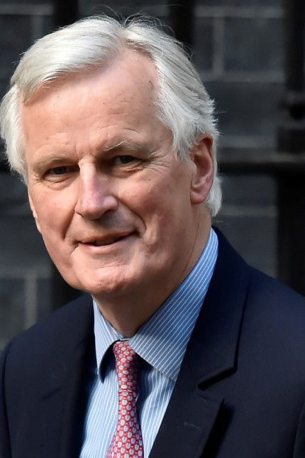 European Chief Negotiator for Brexit, Michel Barnier arrives on Downing Street in London