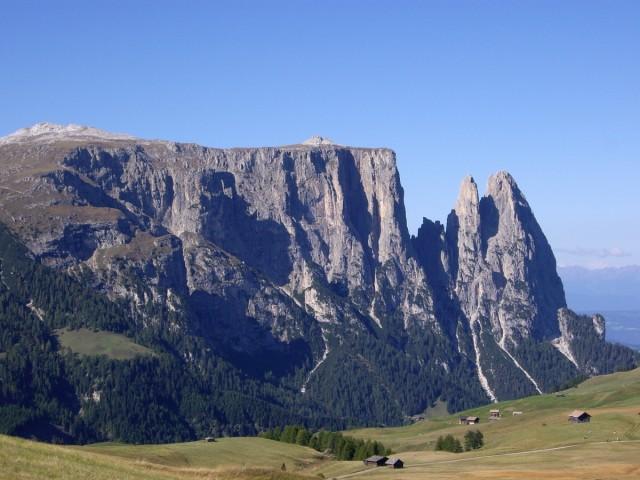 Blick auf den Schlern, Seiser Alm, Dolomiten, 2006