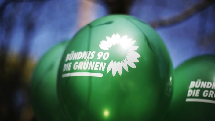 Bündnis 90/Die Grüne - Luftballon mit Parteilogo