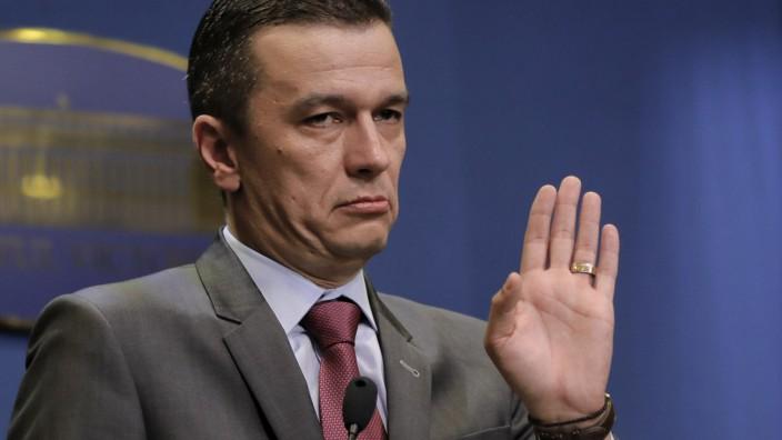 Rumäniens Ministerpräsident Sorin Grindeanu