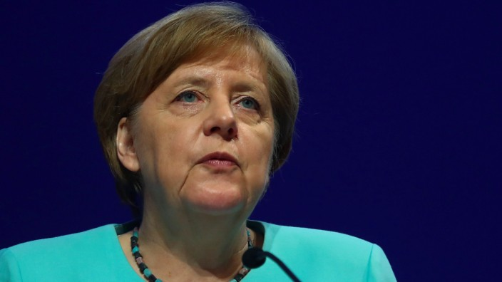 German Chancellor Merkel attends the German Industry Day in Berlin