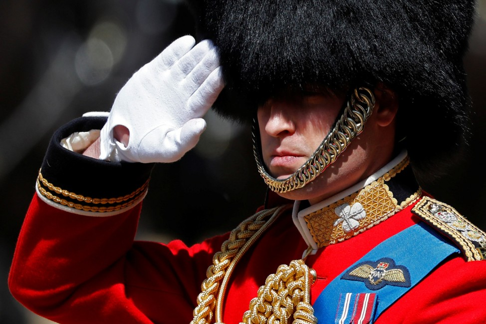 Britain's Prince William attends the Colonel's Review ceremony at Horse Guards Parade in London