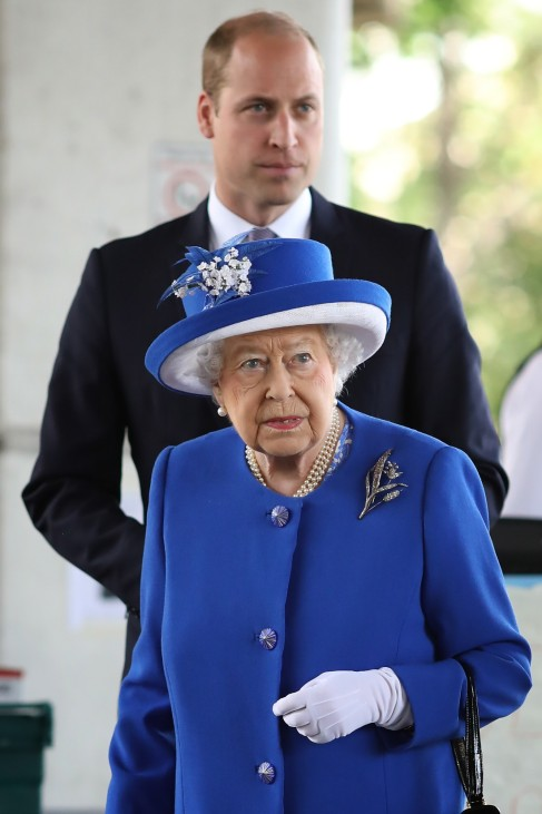 The Queen Visits Scene Of Grenfell Tower Fire