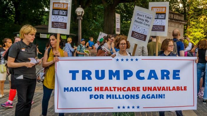 Protest gegen Änderungen in der US Gesundheitsversorgung