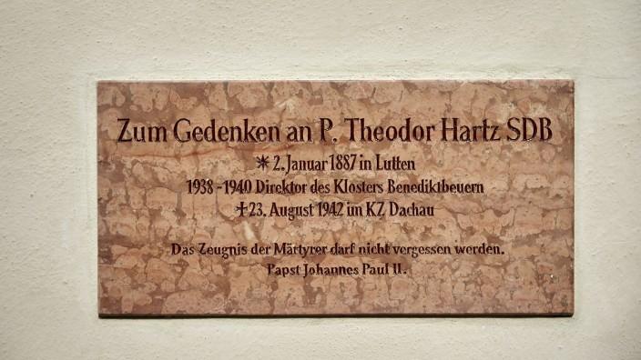 Weihe Gedenktafel  Theodor Hartz