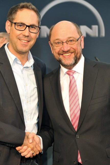 Michael Schrodi und Martin Schulz SPD