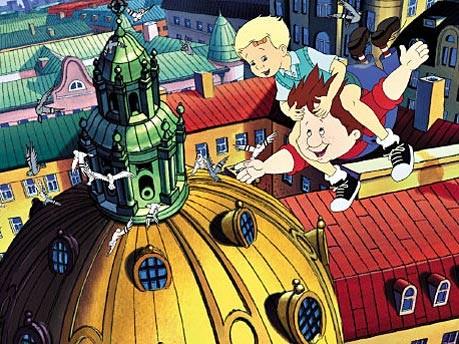 """Szene aus dem Zeichentrickfilm """"Karlsson vom Dach"""", 2002"""