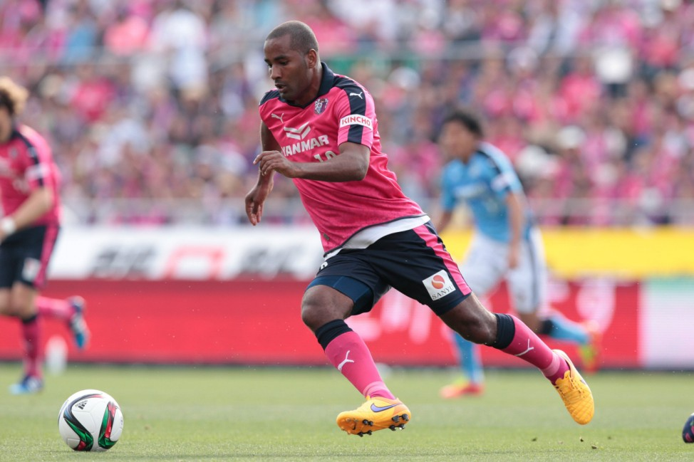 Cacau Cerezo MAY 6 2015 Football Soccer 2015 J2 League mstch between Cerezo Osaka 1 2 Jubil; Cacau Japan