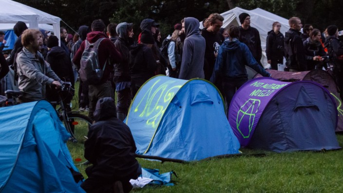 Protesters And Police Clash Over Protest Camp Prior To G20