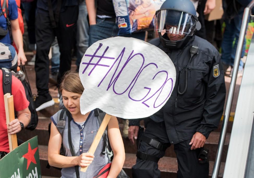 G20-Gipfel - Ankunft Protest-Sonderzug