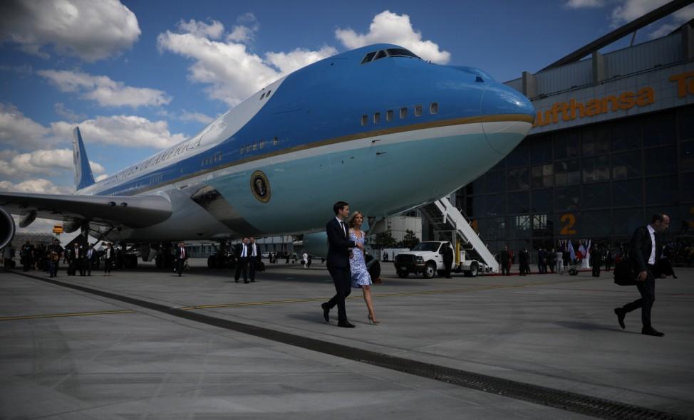 IvankaTrump and White House senior advisor Jared Kushner arrive for the G20 leaders summit in Hamburg