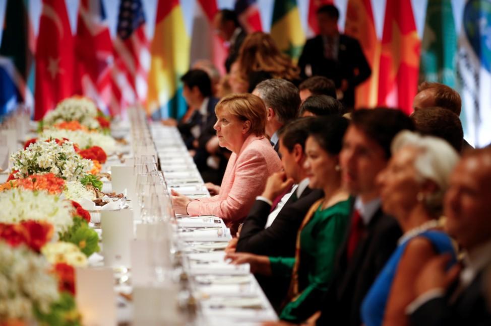 G20 leaders summit dinner in Hamburg