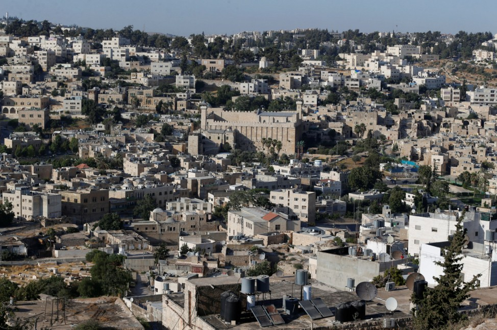 A general view of the West Bank city of Hebron