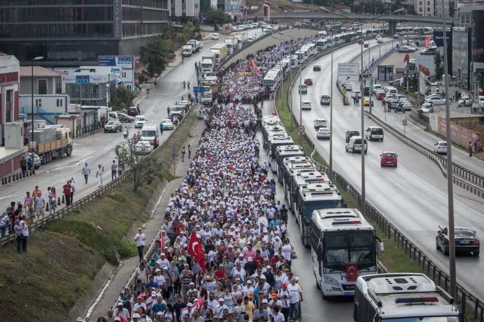 Justice March For Imprisoned Opposition Party Lawmaker Takes Place In Turkey