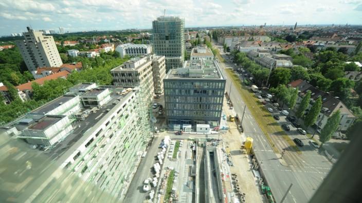"""Großbaustelle """"Schwabinger Tor"""" in München, 2017"""