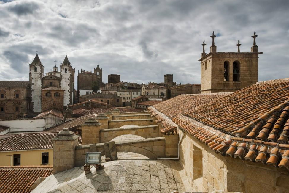 Caceres UNESCO World Heritage Site Extremadura Spain Europe PUBLICATIONxINxGERxSUIxAUTxONLY Copy