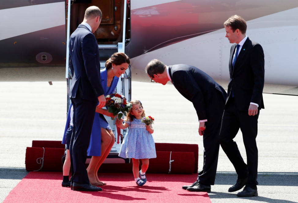 Prince William and his wife Catherine visit Germany