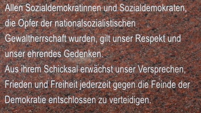 Gedenkstätte: Sozialdemokraten waren neben Kommunisten und Gewerkschaftern die ersten Häftlinge im KZ Dachau.