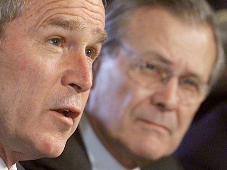 us präsident george w. bush donald rumsfeld reuters