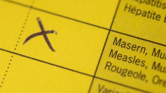 Masern-Impfung Impfpass