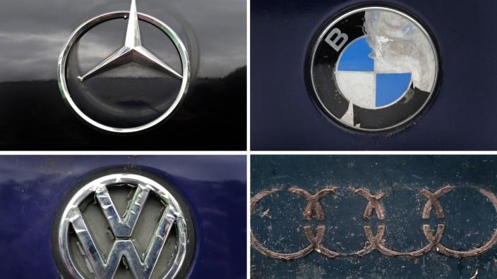 Mercedes, BMW, VW und Audi