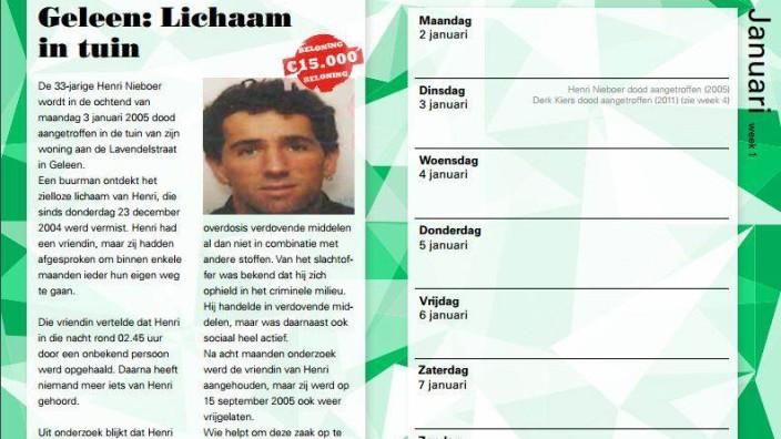 Niederlande: Ein Ausschnitt aus dem Cold-Case-Kalender aus dem Monat Januar