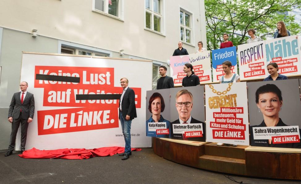 Vorstellung der Wahlplakate der Partei Die Linke