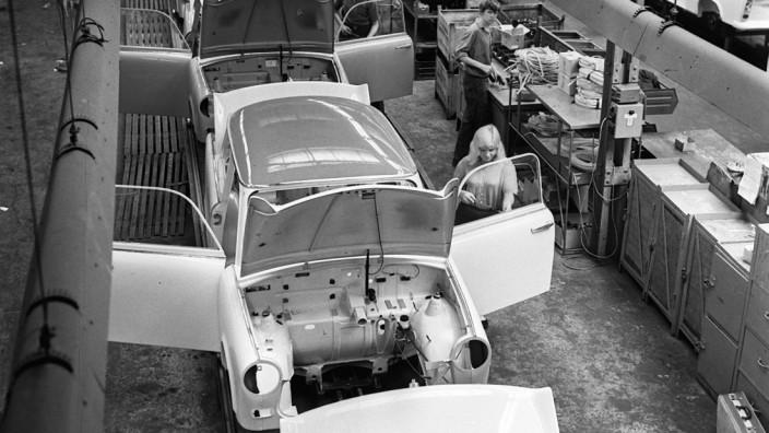 PKW Trabant wird 50  - Produktion am Fließband