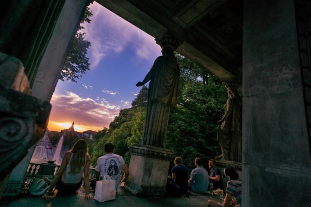 Sonnenuntergang am Friedensengel