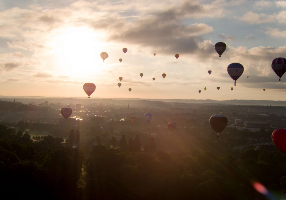 Internationales Ballon Festival in Bristol