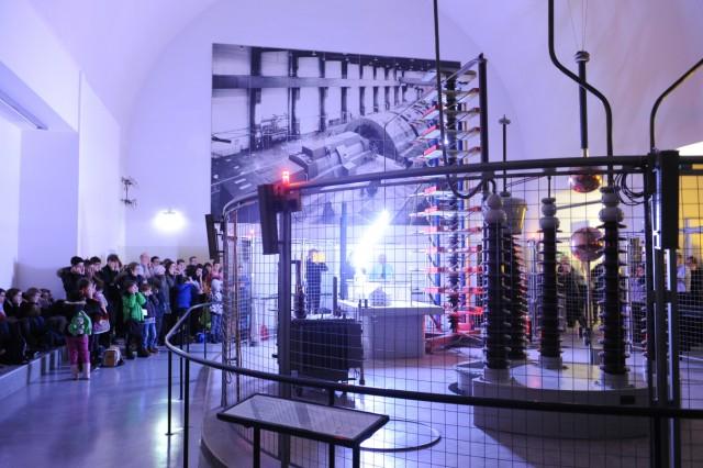 Starkstromvorführung im Deutschen Museum in München, 2015