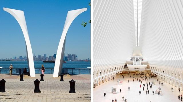 """Tipps für New York: Erinnert an den """"Oculus""""-Entwurf von Stararchitekt Santiago Calatrava (rechts): das 9/11-Memorial in Staten Island."""
