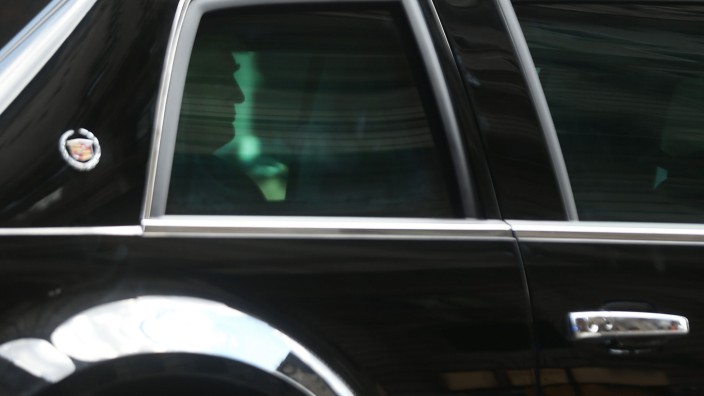 President Trump Leaves Trump Tower En Route Back To New Jersey
