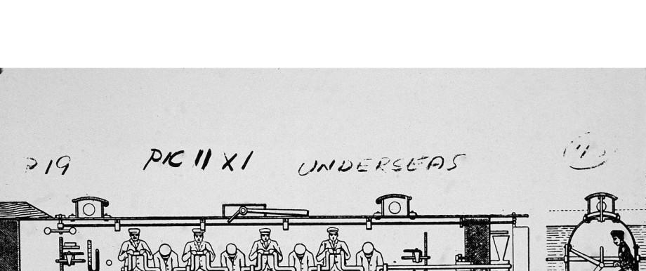 Diagram Of The 'H. L. Hunley'
