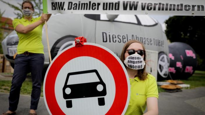 Protest gegen Diesel-Gipfel
