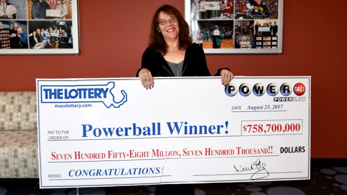 Mavis Wanczyk of Chicopee, Massachusetts, the winner of the $758.7 million Powerball jackpot is pictured in Braintree in this handout photo