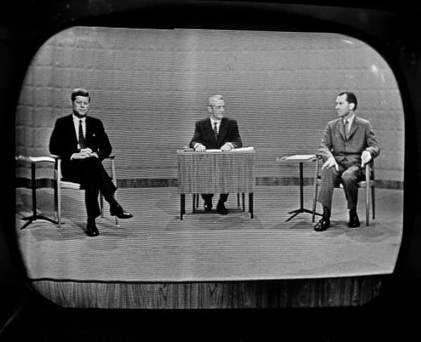 John F. Kennedy im Fensehduell mit Richard Nixon 1960