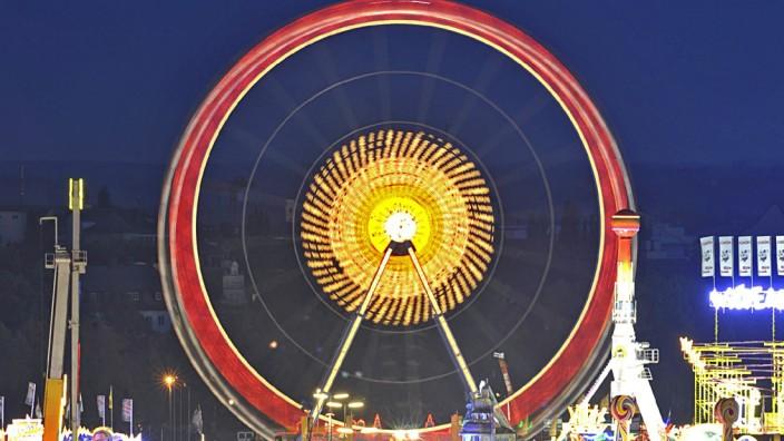 Oktoberfest 2009 - Riesenrad bei Nacht