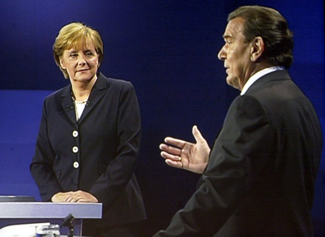 TV-Duell Merkel - Schröder