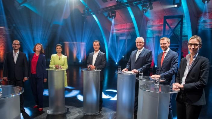 Live-Fünfkampf der kleinen Parteien in der ARD