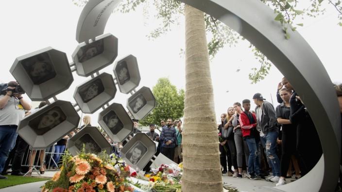 Trauer um die Opfer am Jahrestag des Amoklaufs im OEZ in München, 2017