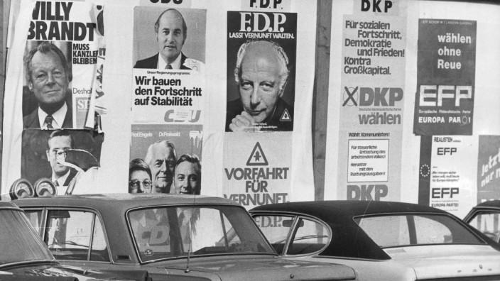Wahlplakate zur Bundestagswahl 1972