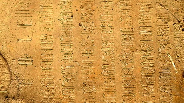La Mojarra Stele, Isthmus-Schrift